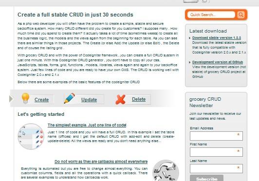 Grocery CRUD – biblioteka Codeigniter do tworzenia panelu admina
