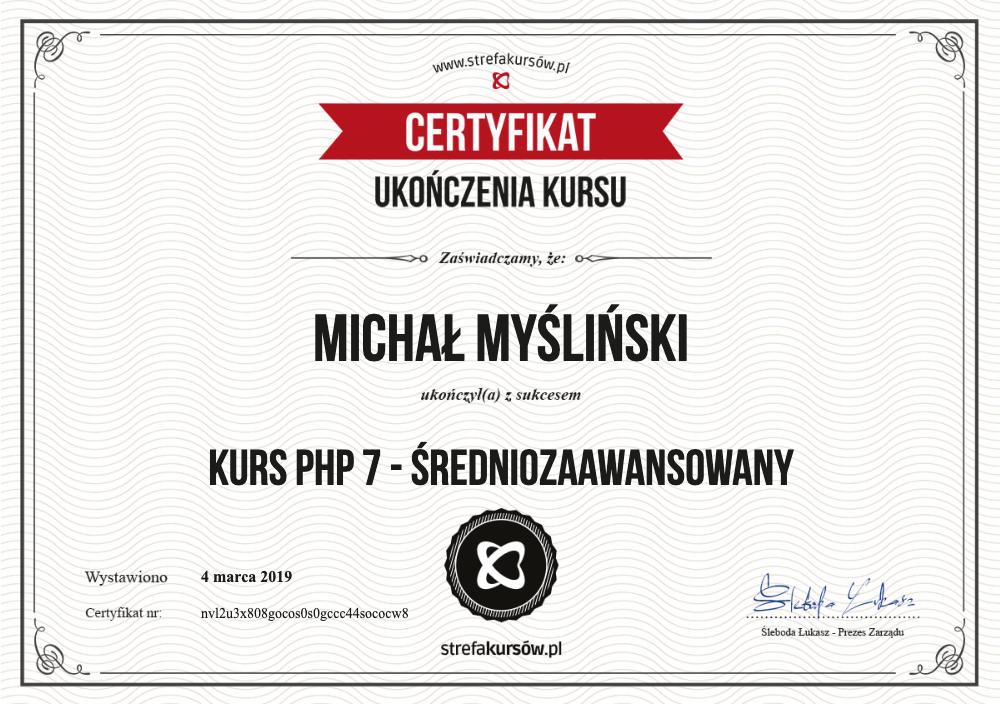 Kurs PHP 7 - średniozaawansowany