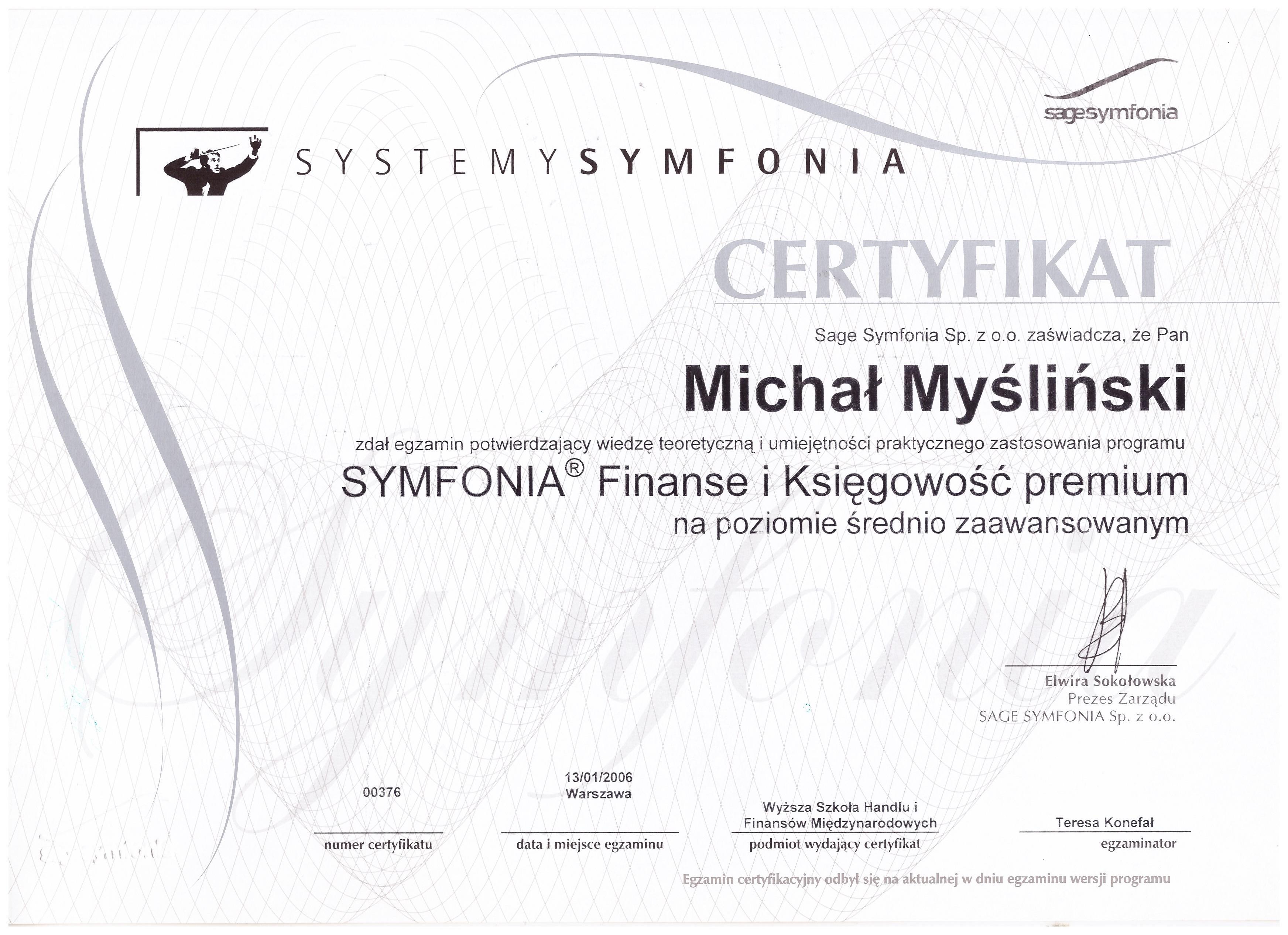 Symfonia Finanse